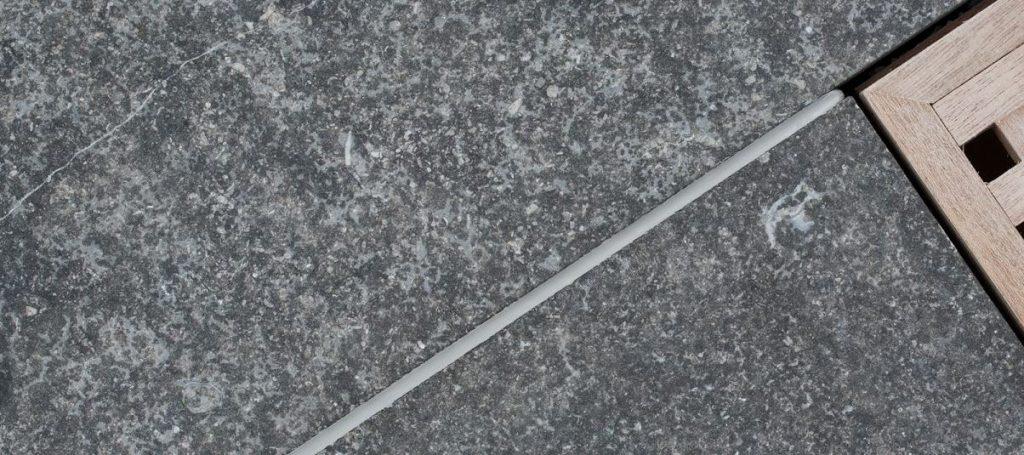 blauwe steen vloer